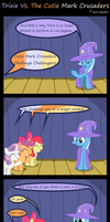 Trixie Vs. The Cutie Mark Crusaders by Evil-DeC0Y