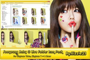 Sooyoung Baby G Live Folder Icon Pack by Rizzie23