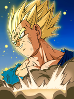 Majin Vegeta Ssj by Monstkem
