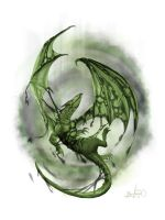 darkness breath Dragon by Simon Buckroyd by Binoched