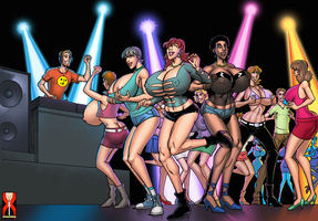 Huge Breast Fest at The Funky Nightclub by expansion-fan-comics