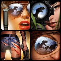 Jurassic Hunter Icons. by javieralcalde
