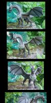 Black dragon sculpture by VeroRamos