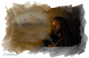 Thorin Remembering Erebor by LadyMintLeaf