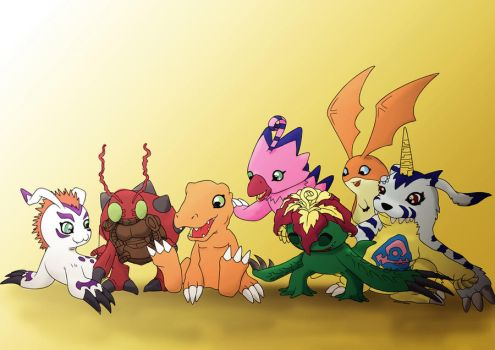 Pintura Lineart #2 (Digimon by marcioliver