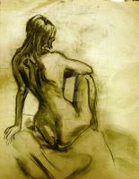 Female nude study 4 by XavierDiemert