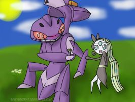 Request: Genesect and Meloetta by Raichulolrat