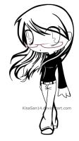chibi me with line art by KisaSan14