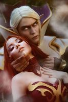 Dota 2 Lina and Invoker by ShlachinaPolina