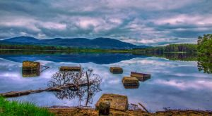 Loch Reflection, Highlands, Scotland by Raiden316