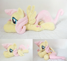 Cuddle-sized Floppy Fluttershy! by tiny-tea-party