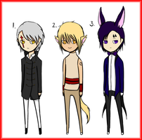Half Human/Animal Adoptables - Male [CLOSED] by Miskachan