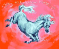 YAY TECHNICOLOUR HORSES by leoniexli