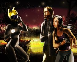 First Encounters - When Celty met Abby and Ichabod by Thrythlind