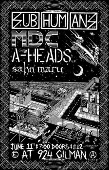 Subhumans, MDC flyer by strainedeyegraphics