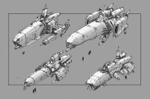 ship concepts by TheUncannyKen