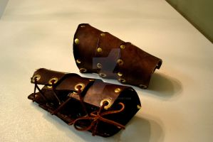 Leather Bracers II by AmbitiousArtisan