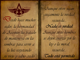 Assassin's Creed - Gremio de las Sombras The Creed by josetemg