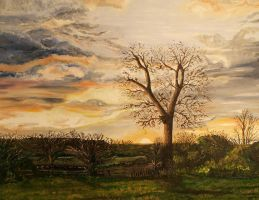 A Winter Sunrise Over Sandiacre by TomTruemanFineART