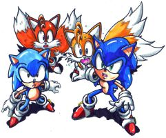 sonic and tails 20th gen by trunks24