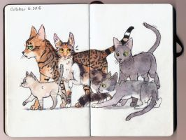 Rising Cat Army by Shimmeri