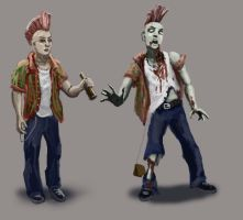 character design Zombie by guang2222