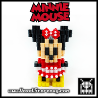 Minnie_Mouse by VoxelPerlers