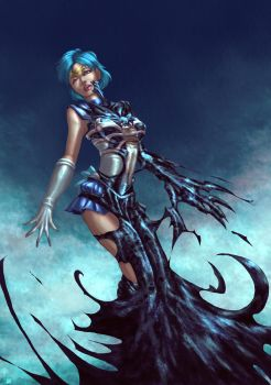Sailor Mercury Symbiote by cric