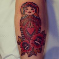Alex Roze Russian Doll Neotraditional by HammersmithTattoo