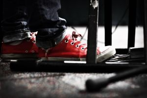 Red Chucks by kellymlacy
