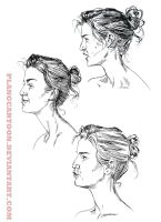 Expressions Study- Profile- Ink by Plangcartoon