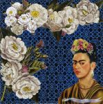 Frida with roses by ArianeJurquet