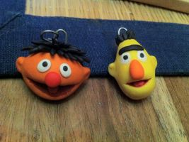 Bert and Ernie Fimo Keychain by UniqueT