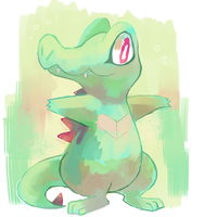 Totodile by sweating