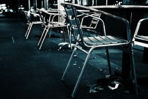 Empty chairs and empty tables by litecreations