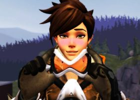 Blushing Tracer by DarknessRingoGallery