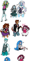 Monster High Sketches by Squidbiscuit