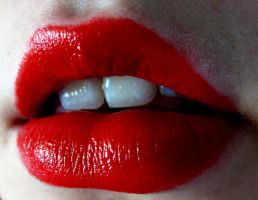 red lips by barberthefloyd