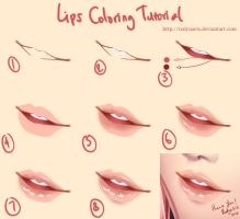 Lips Coloring Tutorial by rialynkv