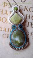 Soutache Pendant by CohullenDruith