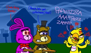 Chica's Pizza Rage by AngryBirdsStuff