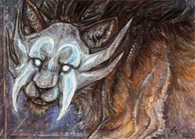 ACEO: Unholy ghost by Psychocereals