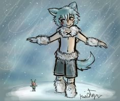 Gt Drawing Challenge A Walk in the Snow by Friendlyfoxpal