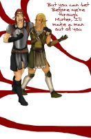 zevran and mahariel by Dino-Myte