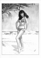 Bettie Page - Sketch 8 by TimGrayson