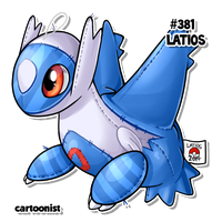 #381 Latios by cartoonist