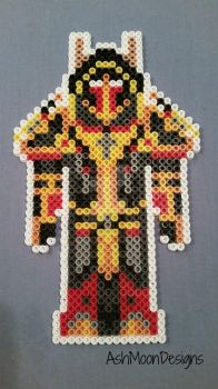 Blood Elf Paladin in Judgement Armor Perler Figure by AshMoonDesigns