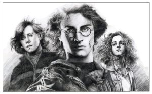 Harry Potter Trinity by leiaskywalker83