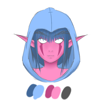 Limited Palette Elf by GvimBlade