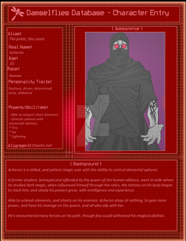 Damselflies Entry: Acheron, the sorcerer by that-animeguy